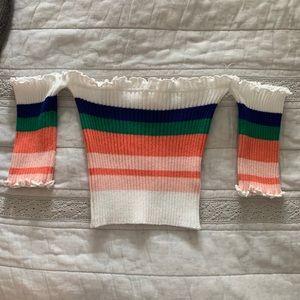 Smocked Stripe Top